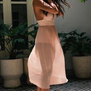 Misha Collection Marika Nude Pleated Dress